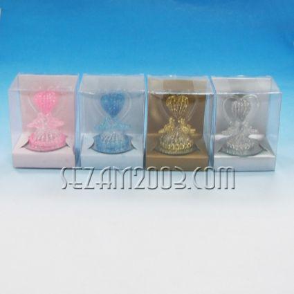 Сърце - стъклена фигурка в подаръчна кутийка 4 цвята