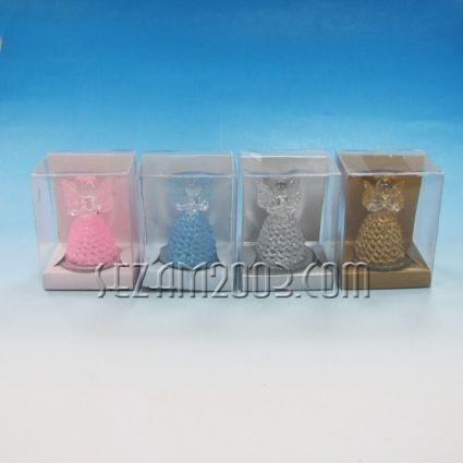 Ангел - стъклена фигурка в подаръчна кутийка 4 цвята