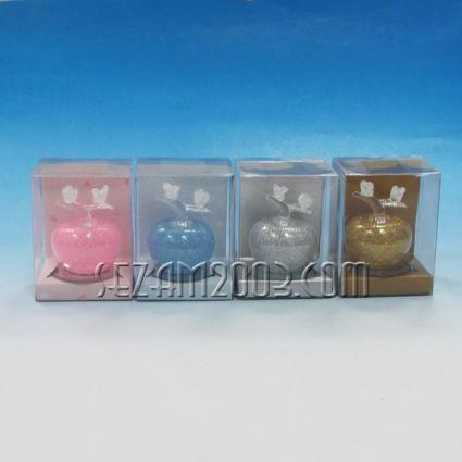 Ябълка - стъклена фигурка в подаръчна кутийка 4 цвята