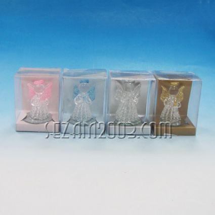 Ангелче - стъклена фигурка в подаръчна кутийка 4 цвята