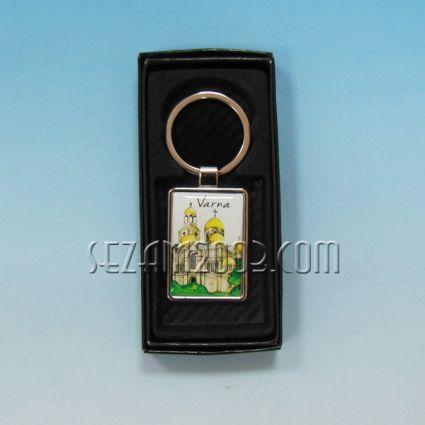 Ключодържател метален+лукс кутийка с пейзаж от Варна