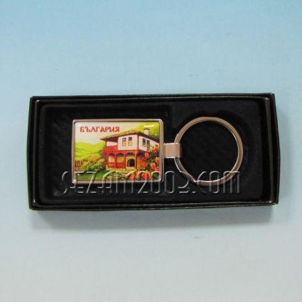Ключодържател метален+лукс кутийка с пейзаж от България