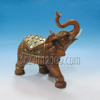 Слон декориран-фигура от полирезин
