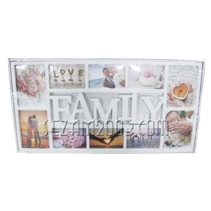 Рамки за снимкиПано с рамки за 6 снимки стенно от пластмаса-FAMILY