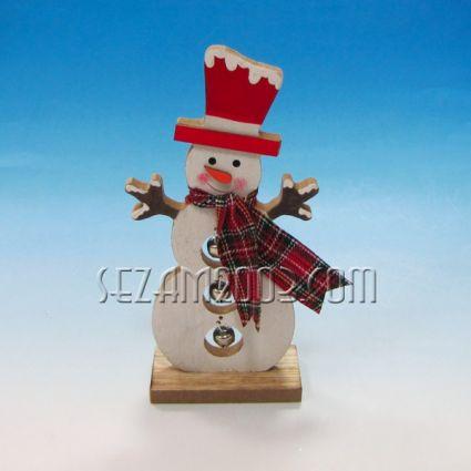 Снежко от мдф с Коледна декорация