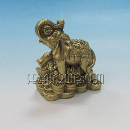 Слонче - фигура фън шуй от резин