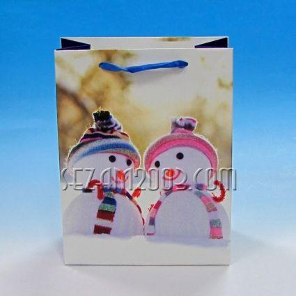 Подаръчна торбичка от лукс хартия СНЕЖКО