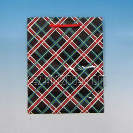 Подаръчна торбичка от гланцирана хартия мъжки декор