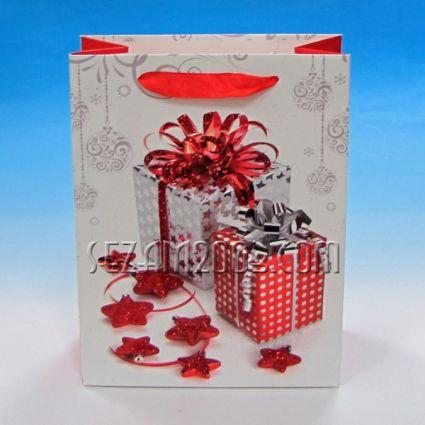 Подаръчна торбичка от лукс хартия - КОЛЕДА
