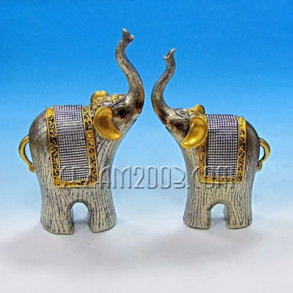 Фигури от резин  слончета 2 броя к-т