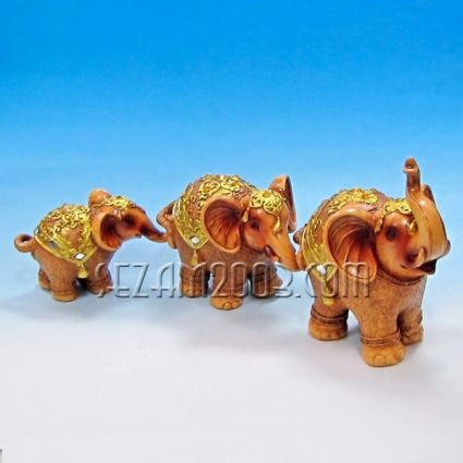 Слончета в редичка 3бр. от полирезин