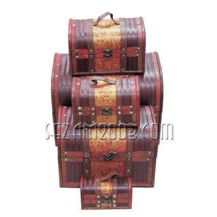 Кутии от дърво декорирани - 5 бр.к-т