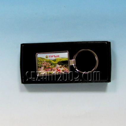 Ключодържател метален в кутийка с пейзаж от Трън