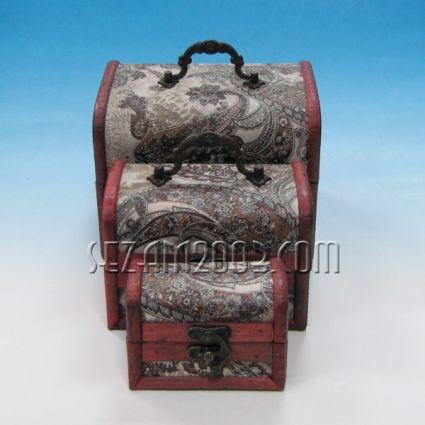 Кутии за бижута от дърво декорирани-3бр.к-т