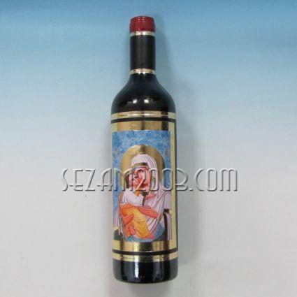 Бутилка вино декорирана с ИКОНА