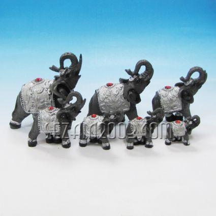 Слончета декорирани - фигури от полирезин