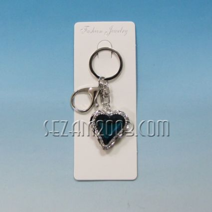 ключодържател от метал и камъни- СЪРЦЕ