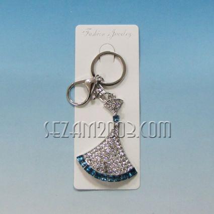 Ключодържател от метал и камъни-ВЕТРИЛО