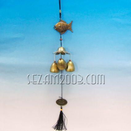 висулка/вятърен звънец от месинг с фигурка на РИБА