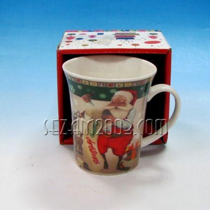 Чаша КОЛЕДНА от порцелан с луксозна индивидуална кутийка