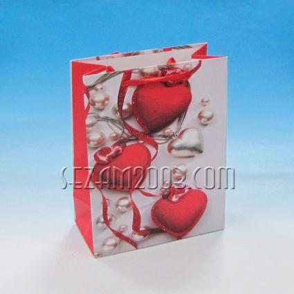 Подаръчна торбичка от лукс хартия - СЪРЦА