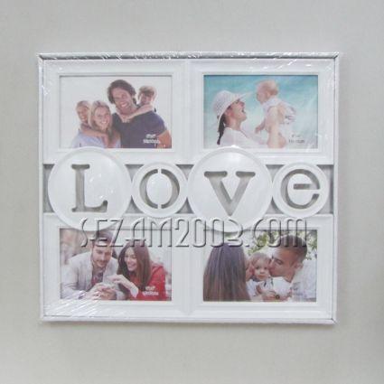 рамка за снимки / пано стенно от пластмаса - LOVE