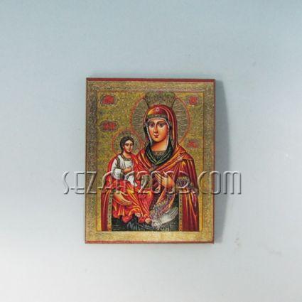 Икона / магнит за хладилник от мдф -Богородица
