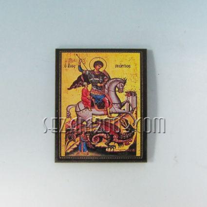 Икона / магнит за хладилник от мдф -Св.Георги