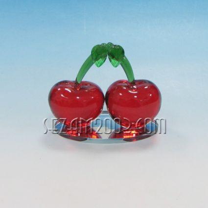 Черешки червени от стъкло