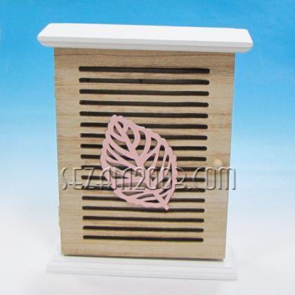 Кутия с листо за ключове стенна/настолна декорирана