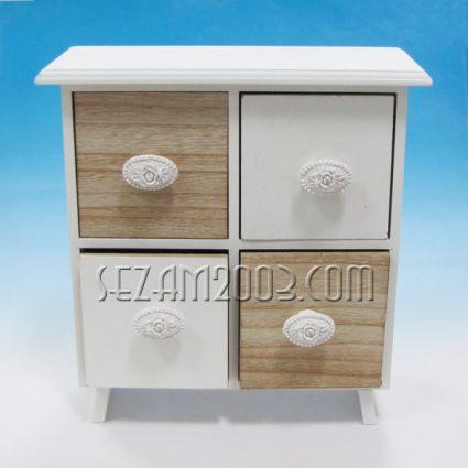 Кутия с 4 чекмеджета настолна