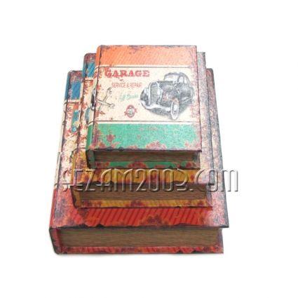 Кутии книги -декорирани-от мдф и плат