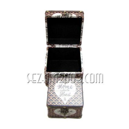 Кутии ракли 2 бр.к-т -декорирани-от мдф и плат