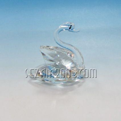 Swan a figure of crystal