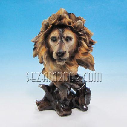 Лъвска глава - фигура от полирезин