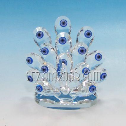 Паун-сувенир от кристални стъкла