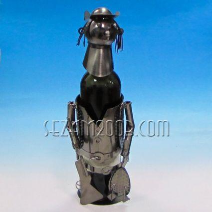 Поставка за бутилка вино от метални части - ЛОВЕЦ