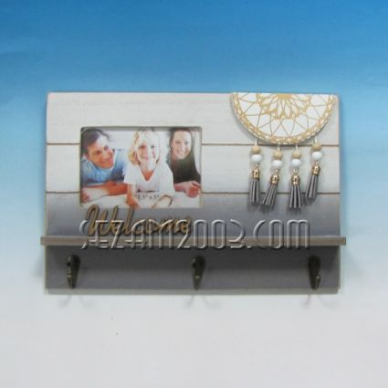 Закачалка за ключове+рамка за снимка с капан за сънища стенна от мдф