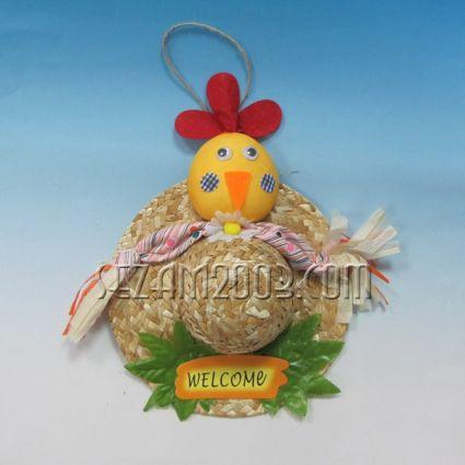 Пиленце на сламена шапка  -Великденска декорация