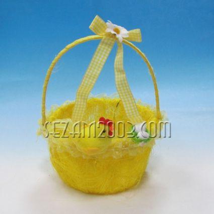 Пиле - кошничка с дръжка - Великденска декорация