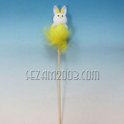 Заек на пръчка - Великденска декорация