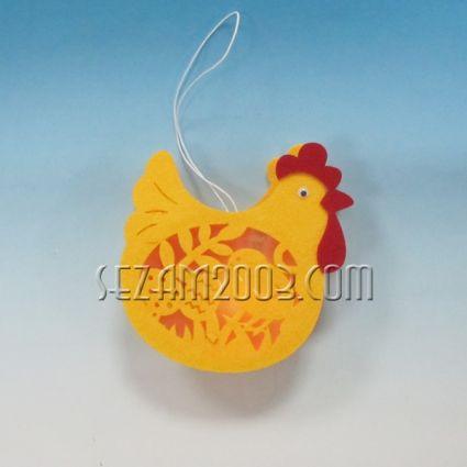 Пиленца светещо с лампички и батерии - Великденска висулка