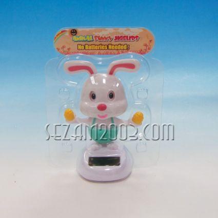 Заек подижен соларен- Великденски сувенир