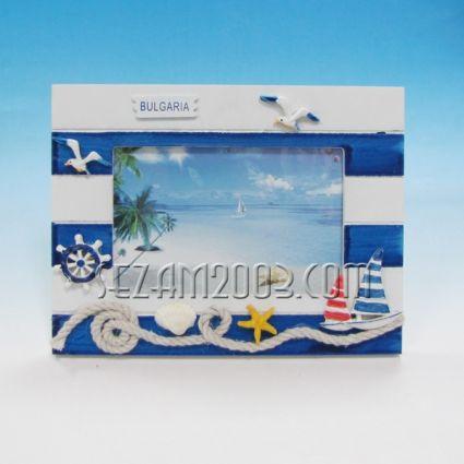 Рамка за снимки морски декор с надпис България