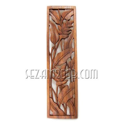 Пано стенно дърворезба - бамбук