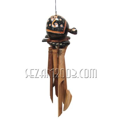 Turtle - wind bell from bamboo and coconut