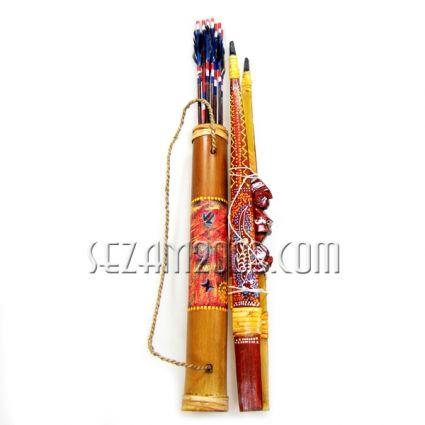 ЛЪК от дърво +стрели в бамбуков колчан
