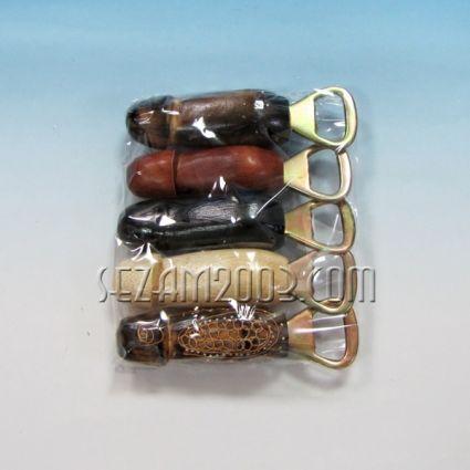 ОТВАРАЧКА - сувенир с форма на пенис от дърво  микс цветове