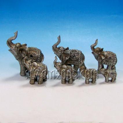 Слончета от резин декорирани 7 бр.к-т