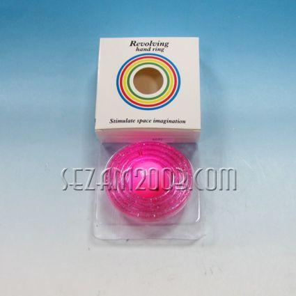 Рингове въртящи с топче светещо с батерии от пластмаса